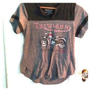 Triumph motorcycle Lucky Brand Tee